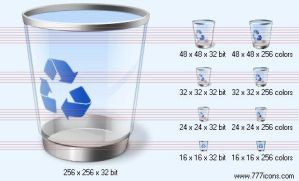 Recycle bin with shadow Icon by jpeger