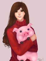 Mabel and Waddles by maristheotter