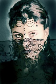 Lace veil II by hscottbrown
