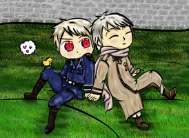 APH Chibi pRussia Colored by WonderfulMelody8