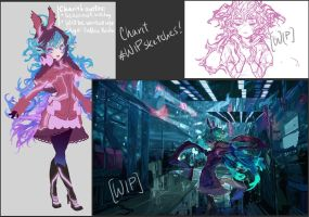 [H.L.U.] - WIPs with Charit by muddymelly