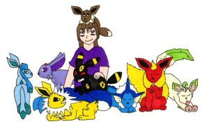 Me and my Eeveelutions by Itachislilgirl