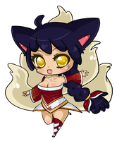 Ahri Chibi...Again by DrippingSin