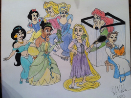 Disney Princesses by Batman316