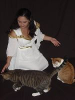 Greek Goddess_With Kitties!! by Zellykats-Stuff