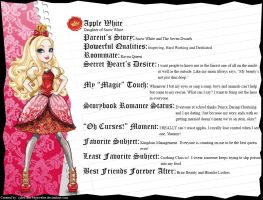 Ever After High - Apple White's Full Bio v3.5 by cjlou-the-bejeweler