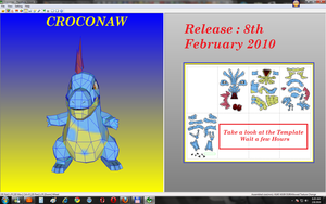 Croconaw Papecraft  + Template by Sabi96PapercraftBox
