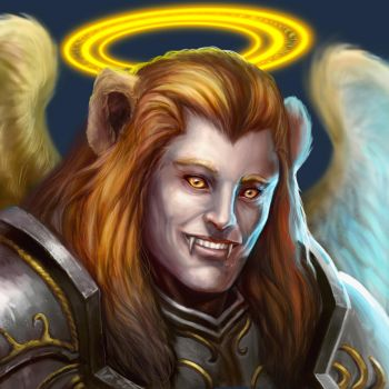 ...Commission: Aasimar Paladin... by ShadowPriest