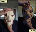 FREAKY!! VFX face painting of an Alien Mask! (WIP) by kinglewie2152uk