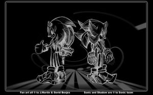 Sonic n shadow by J and D by uwa