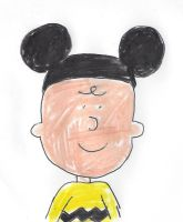 Charlie Brown wearing Mickey Mouse ears by dth1971