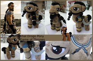 Khal Drogo Pony - MLP Plushie Contest by Caleighs-World
