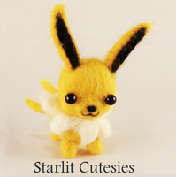 Needle Felted Jolteon Chibi! by StarlitCutesies