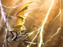 Two Fighting Dragons by Crusading-Knight