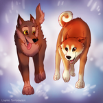 Balto and Hachiko by Lisannexx