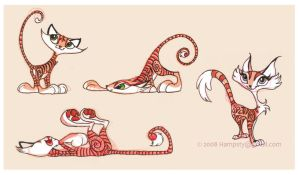 Chinese Kittens by hampsty