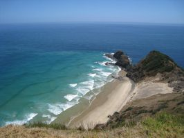 Beach at Cape Rienga by God-KingTaupo