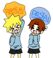 Ramen and Pasta Lovers owo by himawari-hayashibara