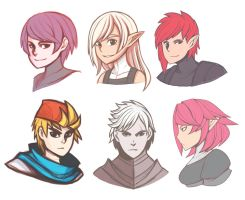 randoms faces by AbyssWatchers
