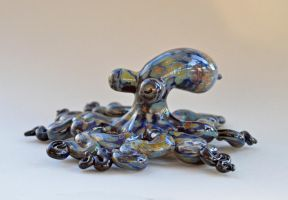 Glass Octopus Sculpture by cold-in-the-north