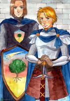 Ser Duncan the Tall and Lady Brienne of Tarth by Alkanet