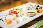 Sushi at the restaurant by DimitriSergejev