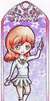 Ginny Weasley bookmark by yui-lian