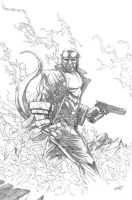 Hellboy in pencil by dfbovey