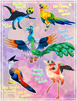 Byubuu Adoptable [TROPICAL BIRDS SPECIAL] - CLOSED by M4WiE