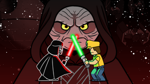 Lego Star Wars Title Card by Pyrotech07