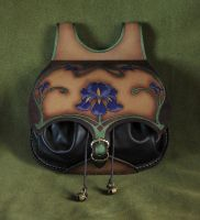 Art Nouveau leather bag by Fantasy-Craft