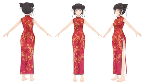 [MMD] Music Girl Nene -  Nene Qipao Dress by xxSnowCherryxx