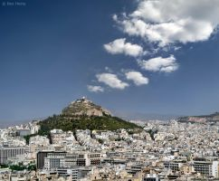 Athens from the Acropolis by BenHeine