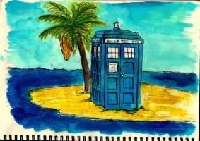 The Tardis on Holiday by UndeniablyJess