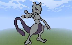 Mewtwo Minecraft by DeadplinkOfTheSand