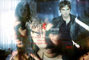 Damon + Katherine (The Vampire Diaries) by YoureStillAnInnocent