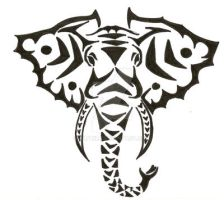 Tribal Elephant by Alphir