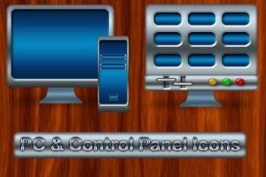 Control Panel and PC Icons by 0dd0ne