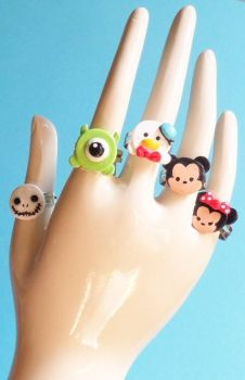 Tsum Tsum Clay Rings by Sparklefiend