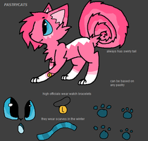 Pastrycats Species Refrence Sheet by DalmationCat