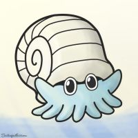 Omanyte on the Beach by TK421LovesYou