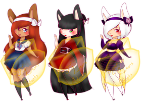 .: Chibi Set 5: OPEN 3/3 :. (READ THE RULES) by SugarLemons-Adopts