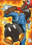 Deadpool Mario Sketch Card Chris Foreman Marvel by chris-foreman