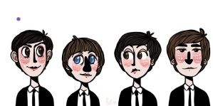 The Beatles by LoupDeMort