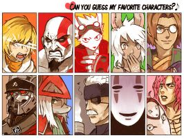 Favorite Characters Meme by Niking