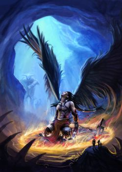 Redemption of the Fallen Angel by DreadJim