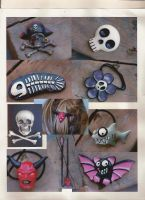 Creepy hair ties and clips by flintlockprivateer