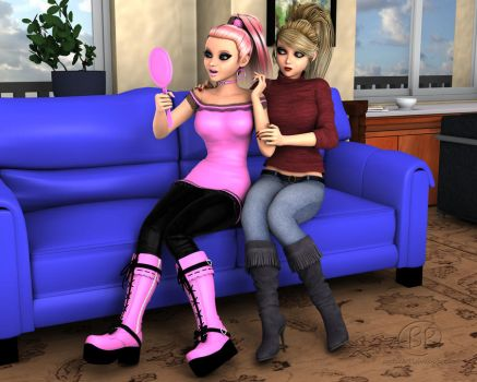 Girl Time with Chloe and Kharis by Miss--Chloe