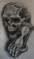 skull n hourglass by karlinoboy