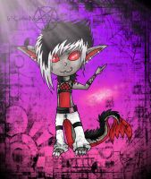 Jax the chibi raver by Carlie-NuclearZombie